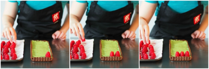 02_Raspberry Matcha Chocolate Tart Collage