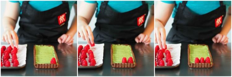 02_Raspberry Matcha Chocolate Tart Collage