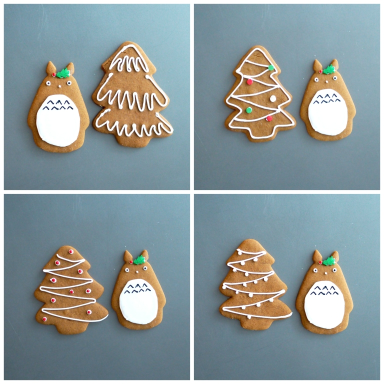 Totoro Gingerbread Cookies