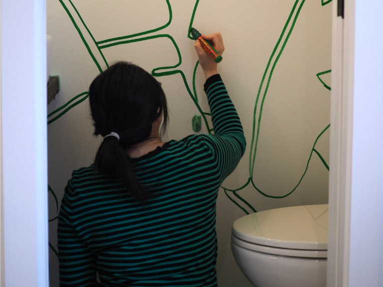 Banana Leaves Mural