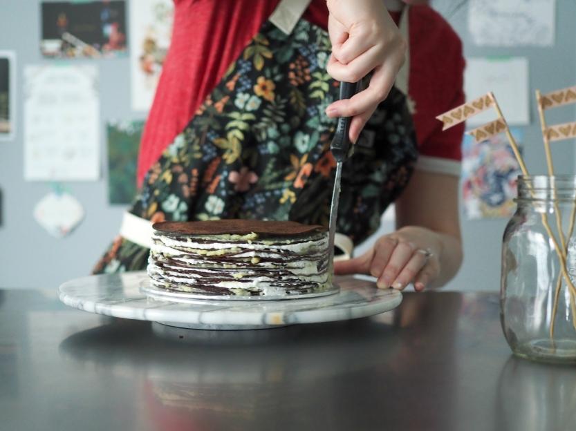 Chocolate Mille Crêpe Cake